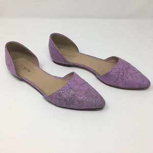 J Crew Sloan Leather D'Orsay flats pink 7.5
